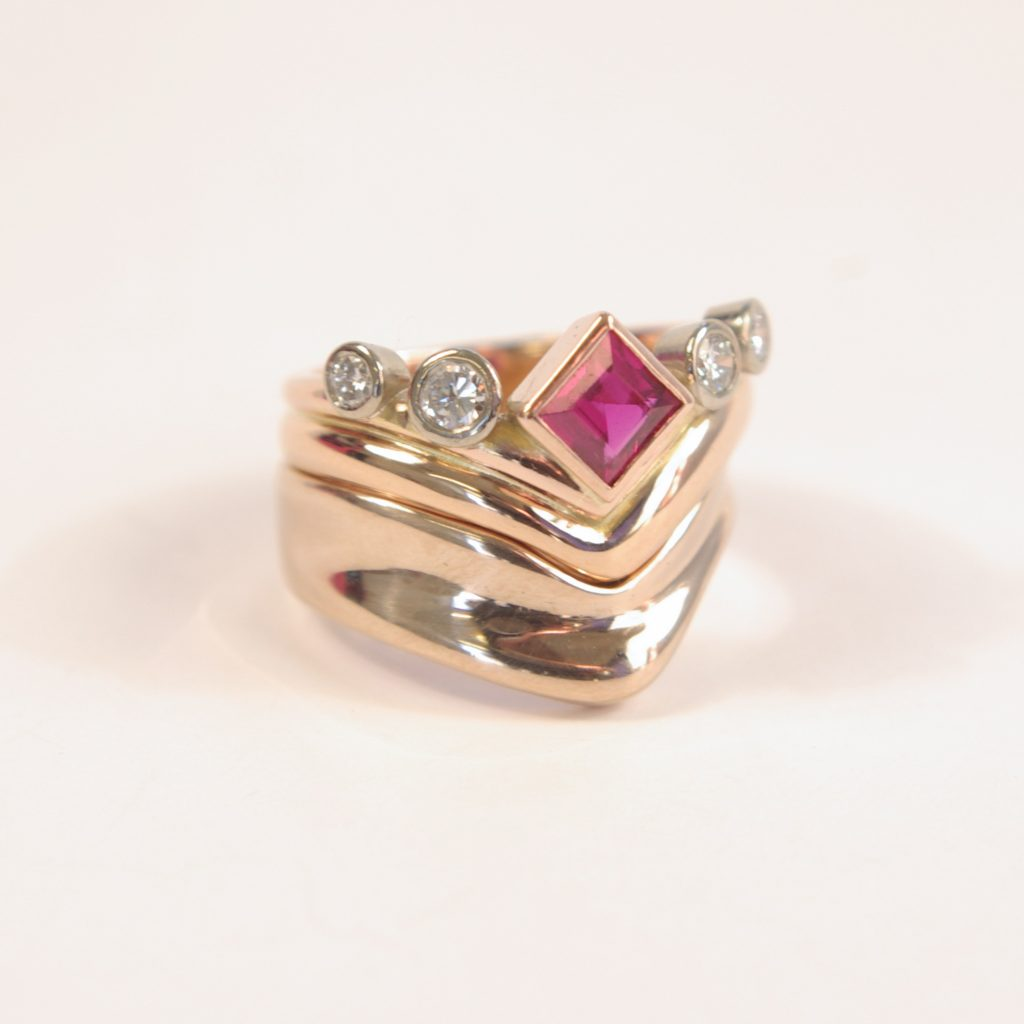 Irenes Ruby Wedding Anniversary Ring Re Model